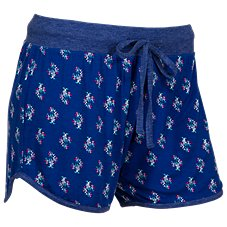 Natural Reflections Bouquet Print Drawstring Shorts for Ladies