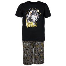 Bass Pro Shops 100% Nocturnal T-Shirt and Shorts Pajama Set for Toddlers or Kids