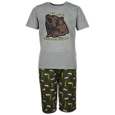 Bass Pro Shops Not a Morning Person T-Shirt and Shorts Pajama Set for Toddlers or Kids