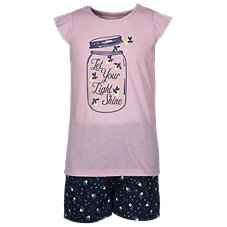 Bass Pro Shops Let Your Light Shine T-Shirt and Shorts Pajama Set for Toddlers or Kids