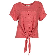2aac8f57e7f Bob Timberlake Eyelet Tie-Front Top for Ladies Image