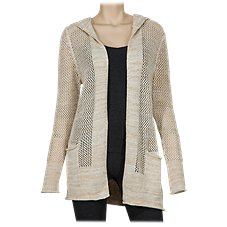 Natural Reflections Open-Front Sweater Hoodie for Ladies