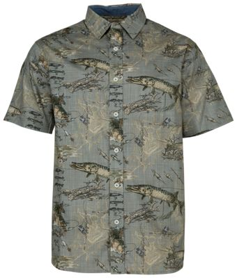 NEW Redhead Men/'s Short Sleeve Button Up Vented Fishing Shirt Size Large