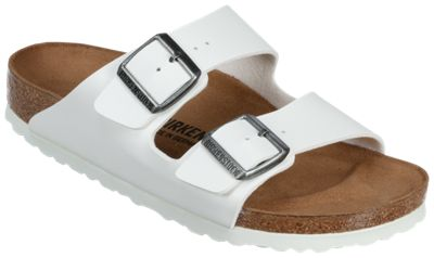 new concept dc897 2aa85 Birkenstock Arizona Birko Flor Sandals for Ladies White 38M