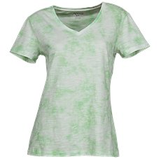 Natural Reflections Tie-Dye V-Neck Shirt for Ladies