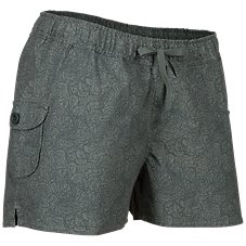 Ascend Printed Canvas Shorts for Ladies