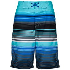 Free Country HydroFLX Ripple Effect Print Swim Shorts for Kids