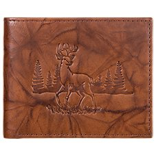 RedHead Deer Embossed Leather Billfold Wallet