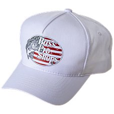 e04de6ecb9c Bass Pro Shops 5-Panel Flag Logo Cap. Navy  Red  White