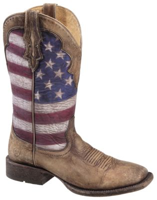 445a95ffc8f Ariat Ranchero Stars and Stripes Western Boots for Men Distressed ...