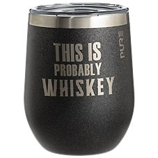 PURE Drinkware This Is Probably Whiskey Stemless Wine/Rocks Glass Image