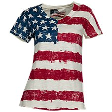 Natural Reflections Vintage Flag Tee for Ladies
