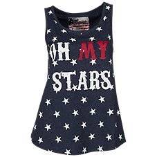Natural Reflections Oh My Stars Tank Top for Ladies