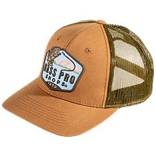 b1ea2bf7ccc Bass Pro Shops Leaping Bass Patch Mesh Back Cap