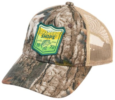 Bass Pro Shops 1972 Fish Patch Mesh-Back Cap for Kids - TrueTimber Kanati/Khaki - Youth thumbnail