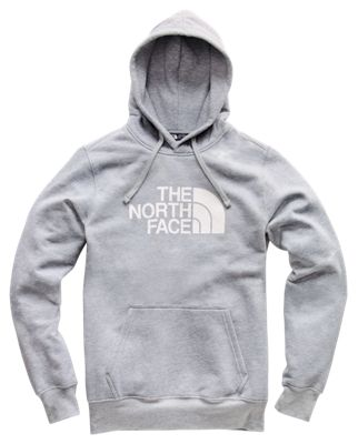 The North Face Half Dome Pullover Long Sleeve Hoodie For Men Tnf Light Grey/tnf White M