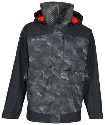 Simms Challenger Jacket for Men – Hex Camo Carbon – XL