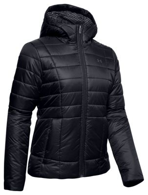 Under Armour Insulated Hooded Jacket for Ladies - Black/Jet Gray - S