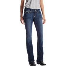 Ariat R.E.A.L. Low-Rise Rosy Whipstitch Bootcut Jeans for Ladies