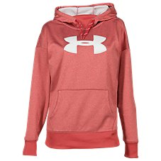 Under Armour Synthetic Fleece Chenille Logo Long-Sleeve Hoodie for Ladies Image