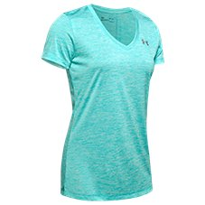 Under Armour Tech Twist Short-Sleeve V-Neck T-Shirt for Ladies
