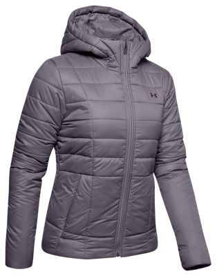Under Armour Insulated Hooded Jacket for Ladies - Flint/Nocturnal Purple - L