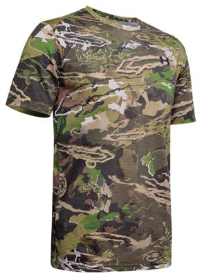 Under Armour Scent Control Camo Live Short-Sleeve Shirt for Men – Ridge Reaper Camo Forest – XL
