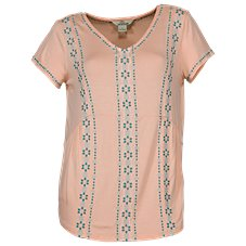 Bob Timberlake Embroidered Floral V-Neck Top for Ladies