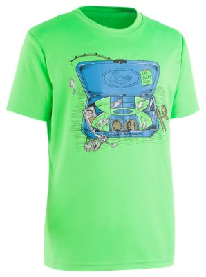Under Armour Tackle Box T-Shirt for Kids – Zap Green – 4
