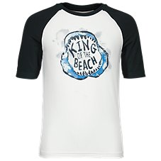 Bass Pro Shops King of the Beach Rash Guard Shirt for Toddlers or Kids