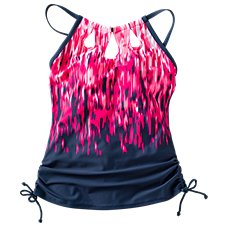 Free Country Cascade Keyhole Halter Tankini for Ladies