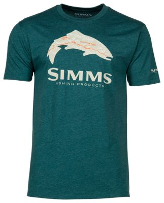 SIZE SMALL FLY TROUT SHORT SLEEVE -GRAY NEW SIMMS T-SHIRT