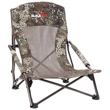 BlackOut Turkey Lounger Folding Hunting Chair in TrueTimber Strata Camo