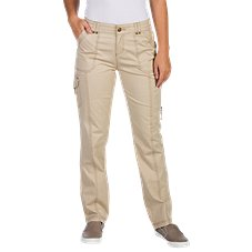 Natural Reflections Cargo Stretch Twill Pants for Ladies