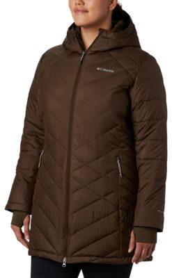 Columbia Heavenly Long Hooded Jacket for Ladies - Olive Green - L
