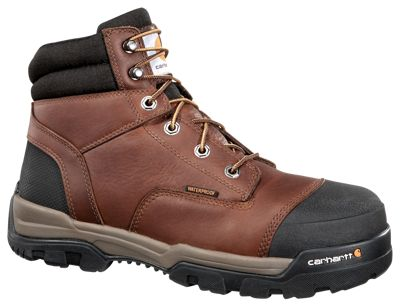 2bb30193d80 Carhartt Ground Force Waterproof Work Boots for Men Brown Leather 105M