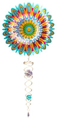 7.5/'/' 6 Colors for Choosing Crystal Twister Garden Wind Spinner