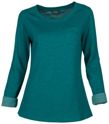 Natural Reflections Double Cloth Long-Sleeve Shirt for Ladies - Atlantic Deep - L