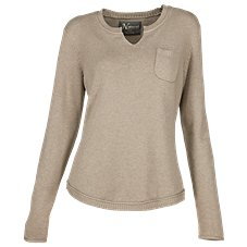 Natural Reflections Notch-Neck Sweater for Ladies