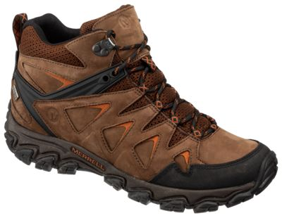 e860f4c3326 Merrell Pulsate 2 Mid Leather Waterproof Hiking Boots for Men Dark ...