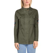 dd3ae094bcc Natural Reflections Embroidered Canvas Jacket for Ladies