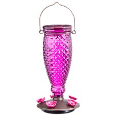 Perky-Pet Diamond Wine Top-Fill Glass Hummingbird Feeder