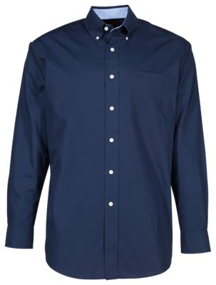Ariat Wrinkle Free Solid Shirt For Men Navy Blue Xl