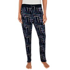 Natural Reflections Brushstroke Plaid Lounge Pants for Ladies