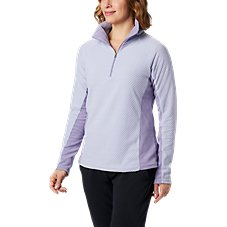 Columbia Glacial IV Print Half-Zip Long-Sleeve Pullover for Ladies Image