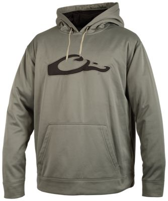 Drake Waterfowl Systems Performance Long-Sleeve Hoodie for Men - Gray/Black - M