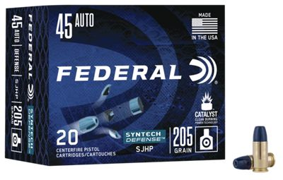 Federal Syntech Defense Handgun Ammo – 9mm Luger – 138 Grain