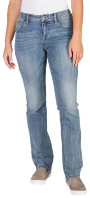 Natural Reflections Corded Pocket Straight Leg Jeans for Ladies - Light Wash - 12