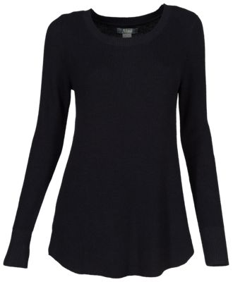 Natural Reflections Long-Sleeve Rib-Knit Leggings Sweater for Ladies - Anthracite - S