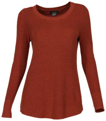 Natural Reflections Long-Sleeve Rib-Knit Leggings Sweater for Ladies - Red Ochre - M